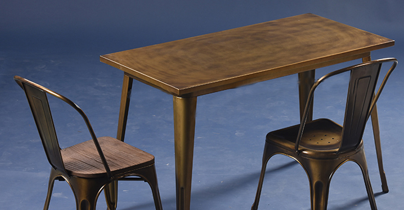 Uptop Furnishings-Restaurant Tables And Chairs Dining Table Set 4 Seater-5