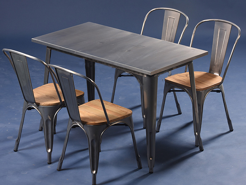 Uptop Furnishings-Restaurant Tables And Chairs Dining Table Set 4 Seater-7