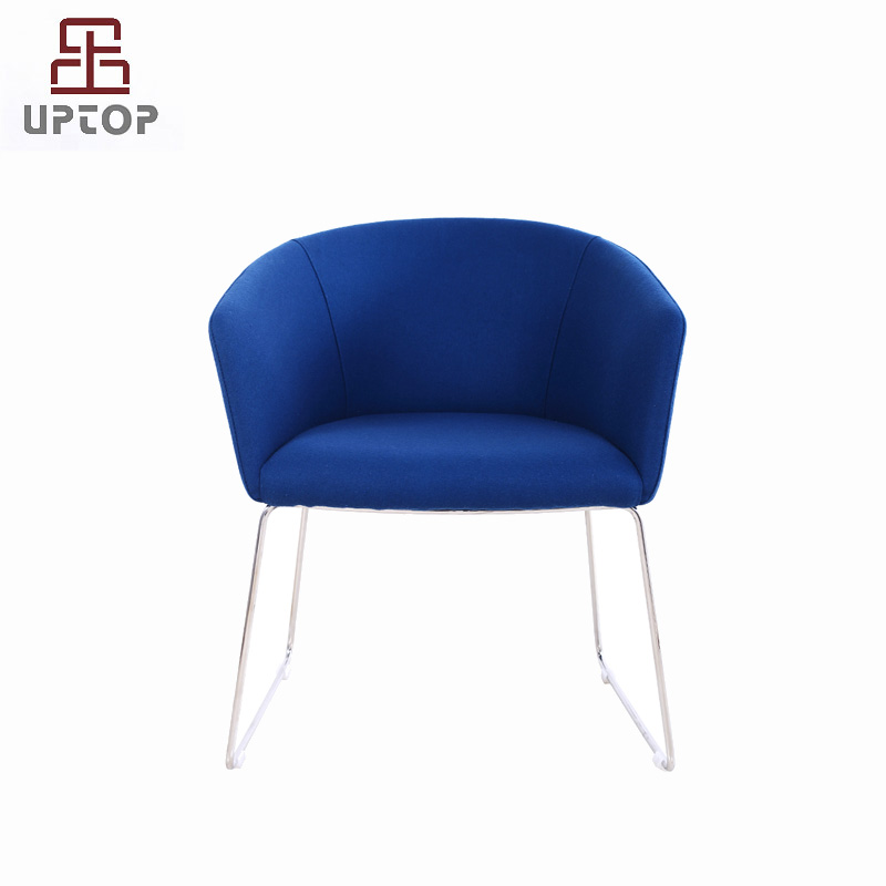 Uptop Furnishings-Decorative Chairs Stainless Steel Frame Office Meeting Chair With Arm-1