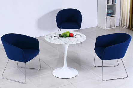 Uptop Furnishings-Upholstery Chair | Stainless Steel Frame Office Meeting Chair-1