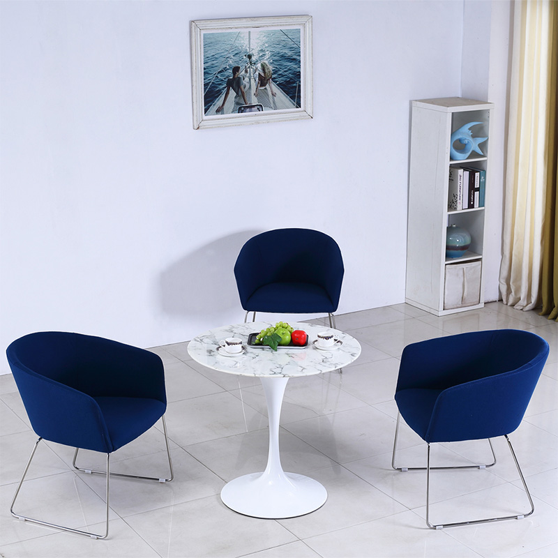 Uptop Furnishings-Upholstery Chair | Stainless Steel Frame Office Meeting Chair-4