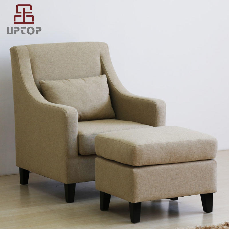 Classic and Traditional Linen Fabric Accent Chair - Living Room Armchair (SP-HC580)