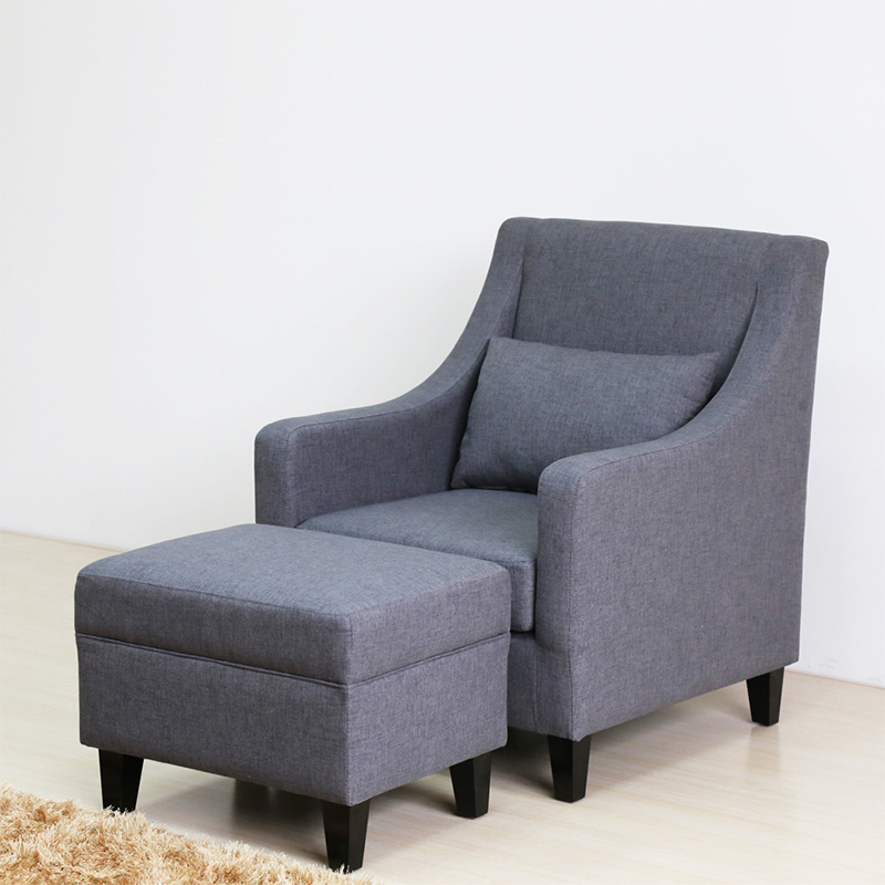 Uptop Furnishings-Classic And Traditional Linen Fabric Accent Living Room Chairs-5