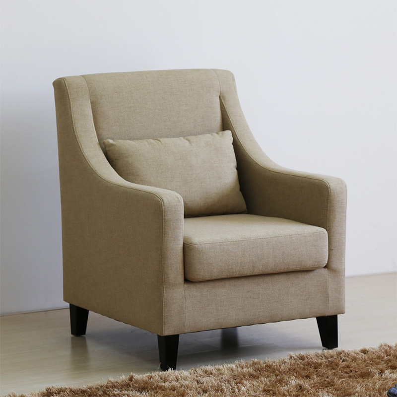 Uptop Furnishings-Classic And Traditional Linen Fabric Accent Living Room Chairs-6