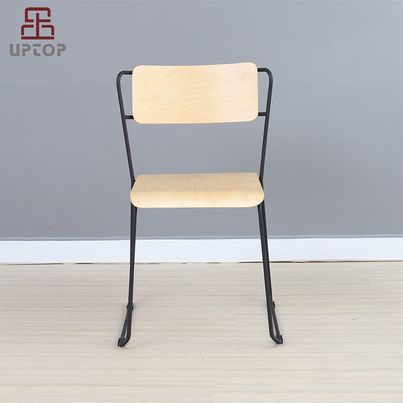 Uptop Furnishings-UPTOP Assembled Bent plywood Metal Dining Chair Stackable SP-BC335-1
