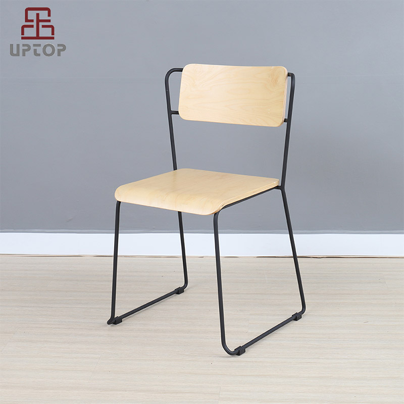 Uptop Furnishings-UPTOP Assembled Bent plywood Metal Dining Chair Stackable SP-BC335