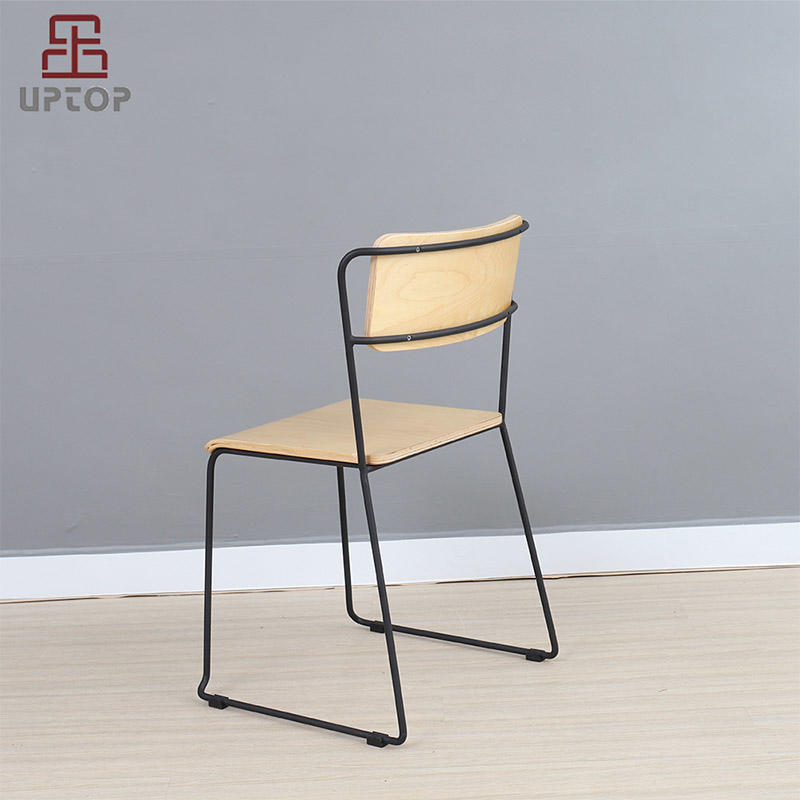Hot metal restaurant chairs side Uptop Furnishings Brand