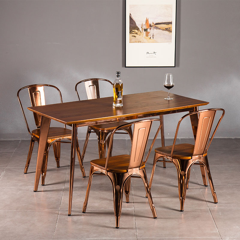 Uptop Furnishings-Tolix Style Dining Chair Stackable Industrial Chairs With High Back-5
