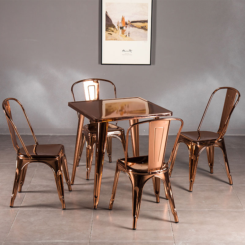 Uptop Furnishings-Tolix Style Dining Chair Stackable Industrial Chairs With High Back-6