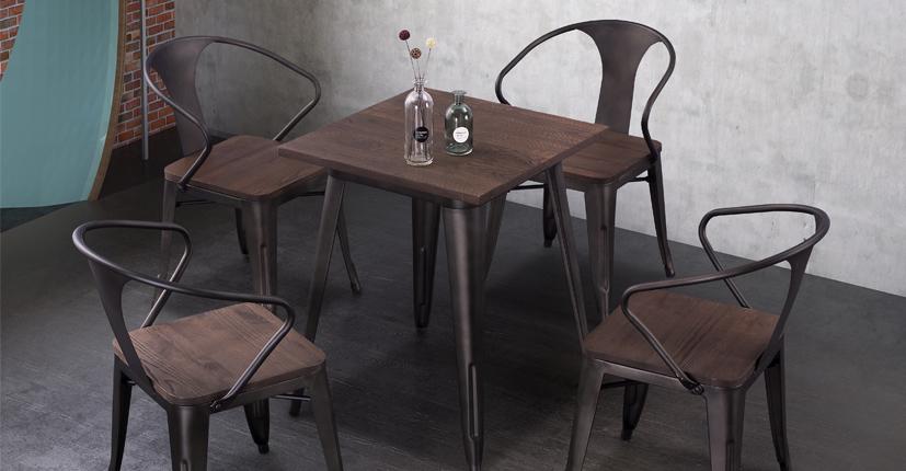 Uptop Furnishings-Outdoor Metal Chair, Rusty Indoor-outdoor Metal Dining Chair