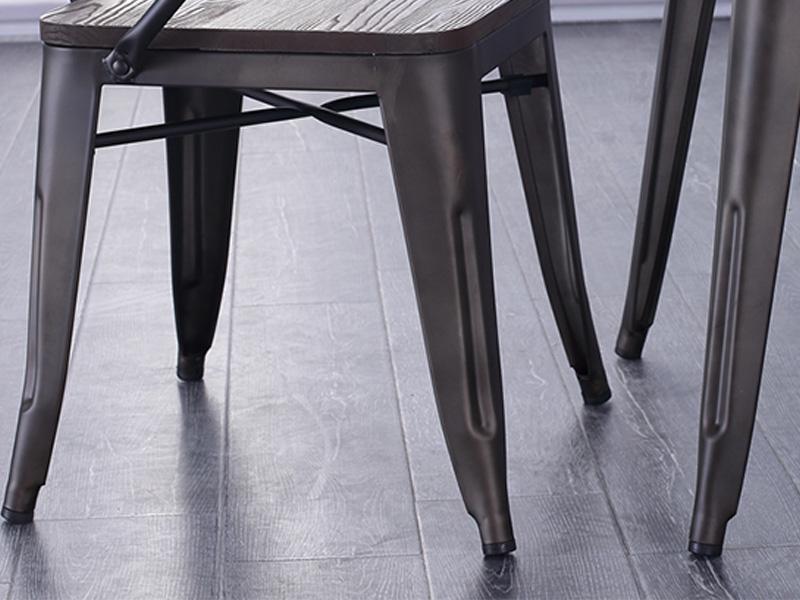 Uptop Furnishings-Outdoor Metal Chair, Rusty Indoor-outdoor Metal Dining Chair-2