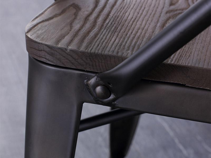 Uptop Furnishings-Outdoor Metal Chair, Rusty Indoor-outdoor Metal Dining Chair-4
