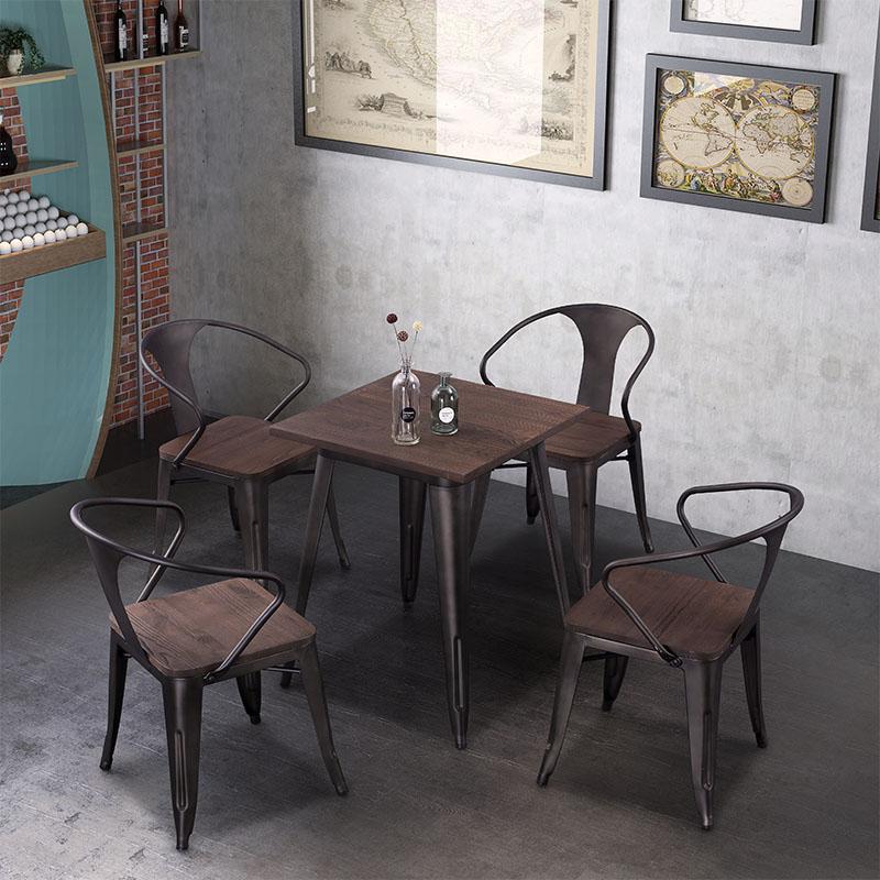 Uptop Furnishings-Outdoor Metal Chair, Rusty Indoor-outdoor Metal Dining Chair-5