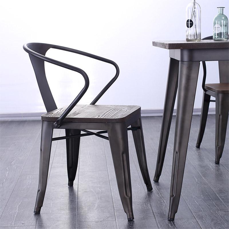 Uptop Furnishings-Outdoor Metal Chair, Rusty Indoor-outdoor Metal Dining Chair-6