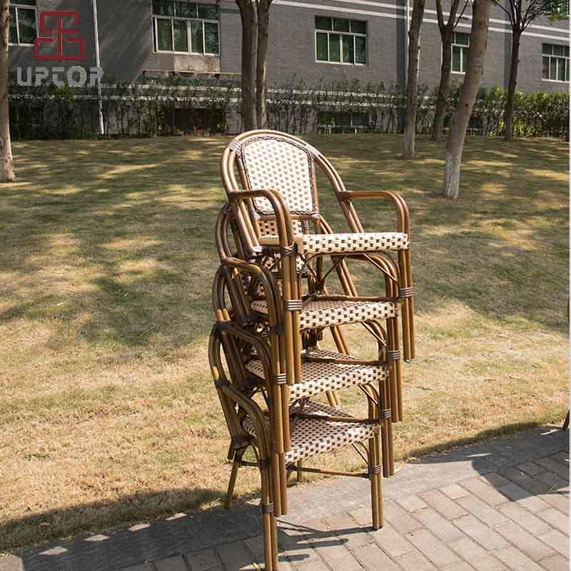 All-Weather Wicker French Café Bistro Chair with Aluminum Frame (SP-OC359)