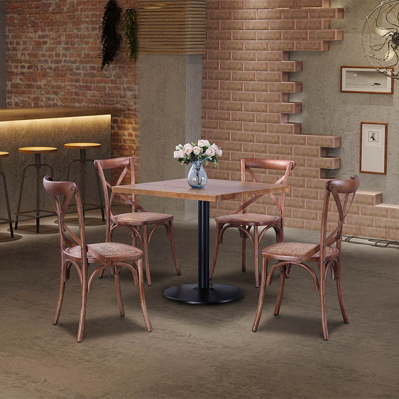wood cafe chair cross for school Uptop Furnishings-6