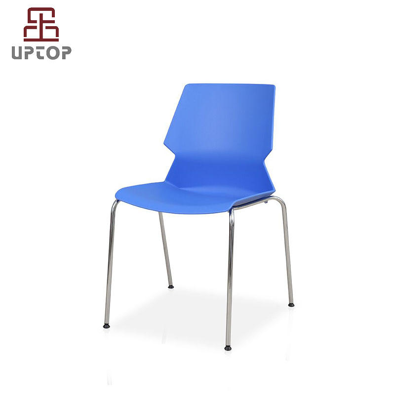 Stacking PP Plastic Chair with chrome steel frame (SP-UC008)