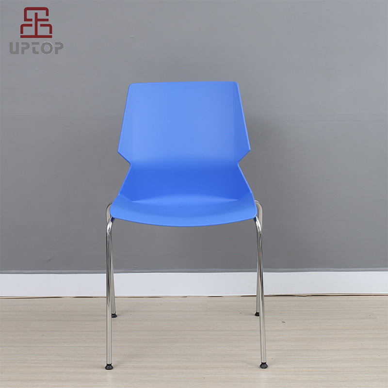 Uptop Furnishings-Stacking PP Plastic Chair with chrome steel frame SP-UC008-1