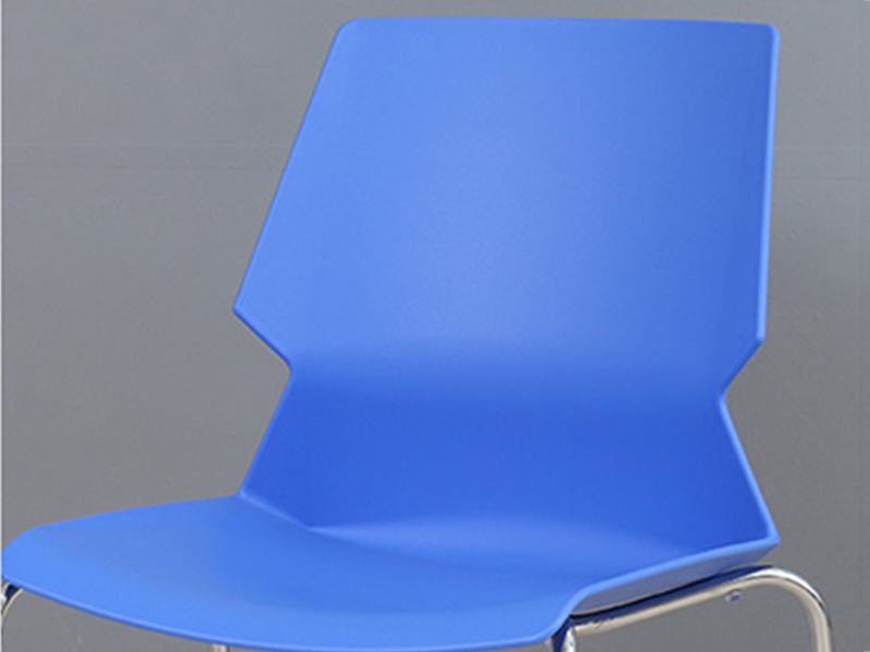 Uptop Furnishings-Stacking Pp Plastic Side Chair With Chrome Steel Frame SP-UC008-2