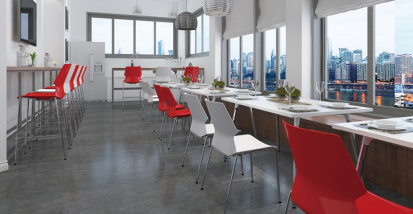 Uptop Furnishings-Stacking Pp Plastic Side Chair With Chrome Steel Frame SP-UC008