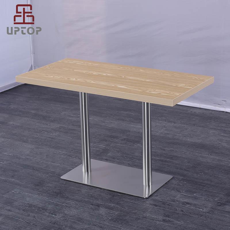 Uptop Furnishings-Modern Rectangular Restaurant Dining Table with Laminate top SP-RT615