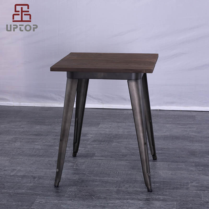 Industrial Tolix style Dining metal table with Wood top (SP-RT616)