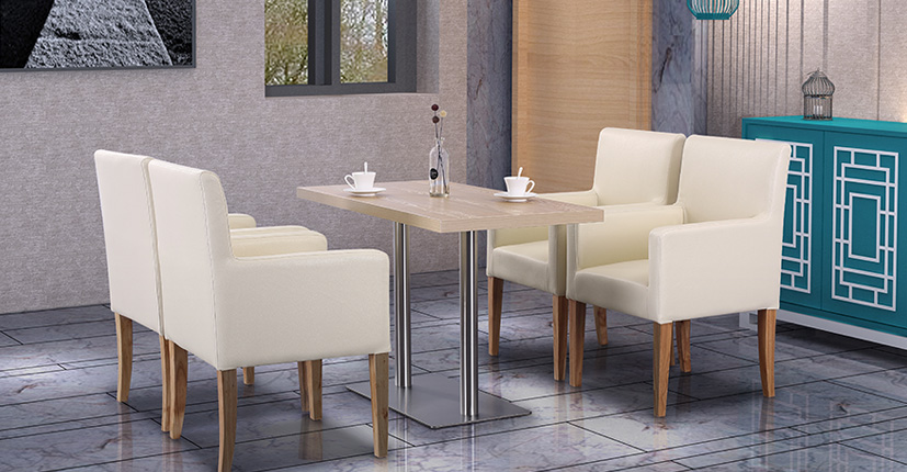 Uptop Furnishings-Dining Table Online | Modern Rectangular Restaurant Dining Table