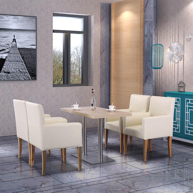 Uptop Furnishings-Dining Table Online | Modern Rectangular Restaurant Dining Table-4