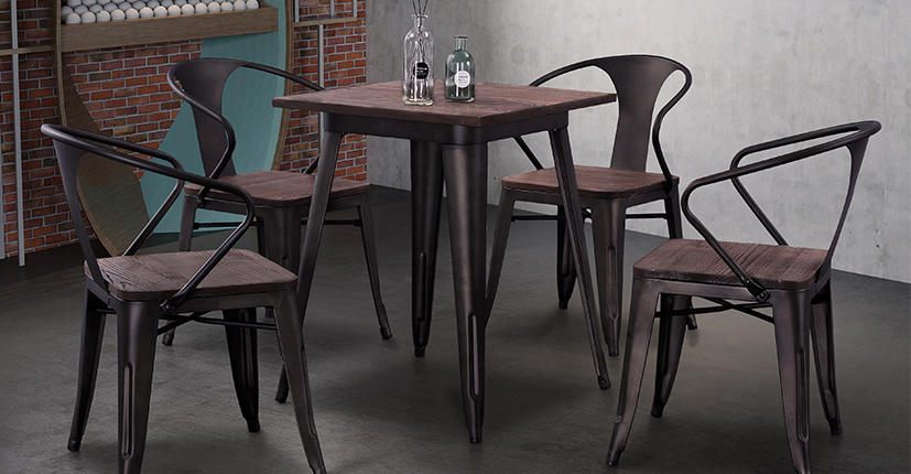 Luxury large round dining table wood China Factory for hospital