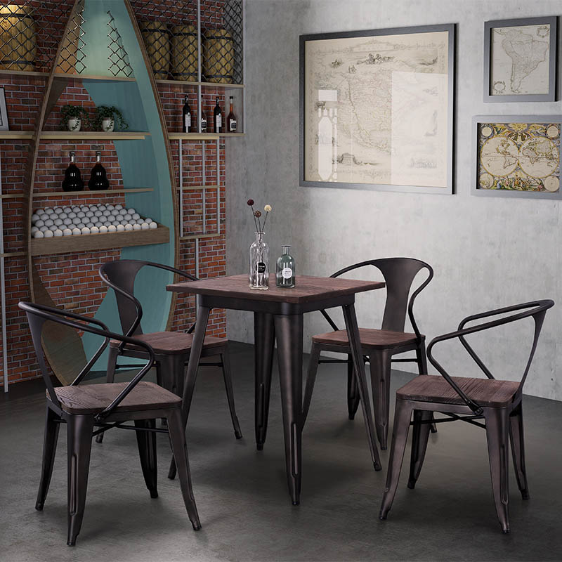 Uptop Furnishings-Best Dining Tables For Small Spaces Industrial Tolix Style Dining Table-4