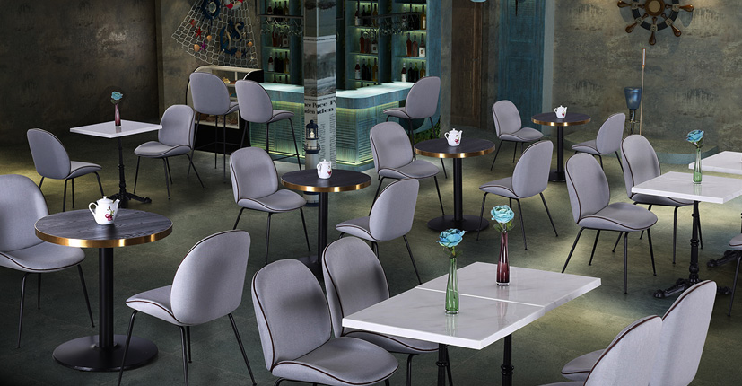 Uptop Furnishings-Quality Dining Table | Laminate Top Round Restaurant Dining Table