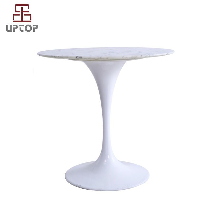 """White Marble Tulip Table 31-1/2"""" Round (SP-GT354)"""