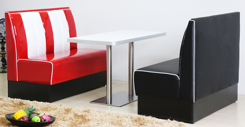 Uptop Furnishings-Find Banquette Booth American Style 1950s Furniture