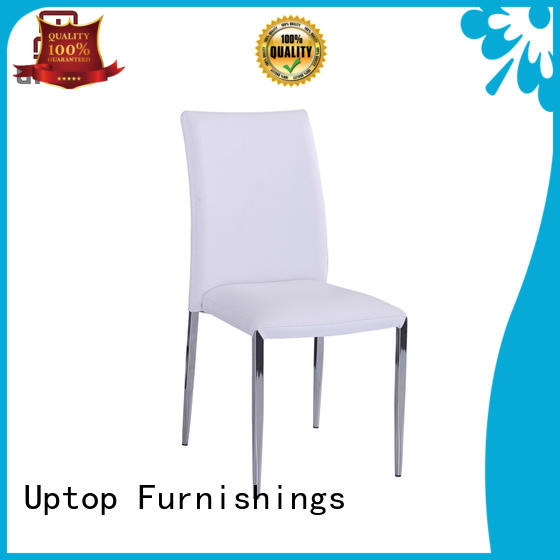 uptop white metal chairs stackable for cafe Uptop Furnishings