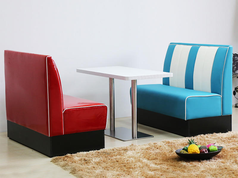 Uptop Furnishings-Find Banquette Booth American Style 1950s Furniture Restaurant Sofa Booth-1
