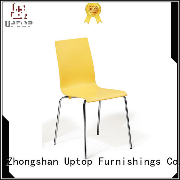 Quality Uptop Furnishings Brand plastic lounge chairs steel stackable