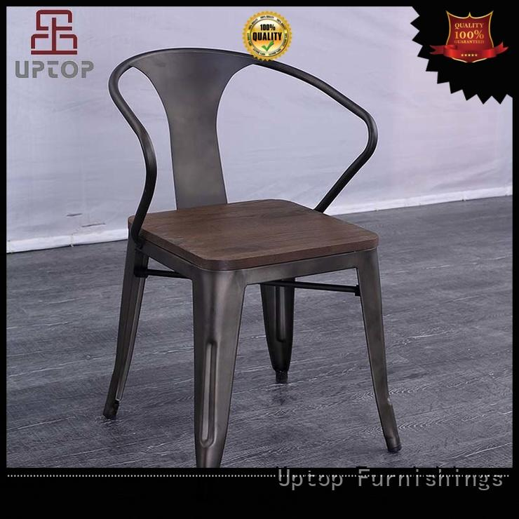 industrial style dining chairs back for public Uptop Furnishings