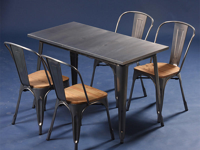 Uptop Furnishings-Restaurant Tables And Chairs Dining Table Set 4 Seater