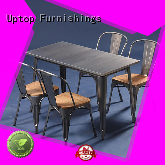 good-package industrial table and chair from manufacturer for hotel Uptop Furnishings
