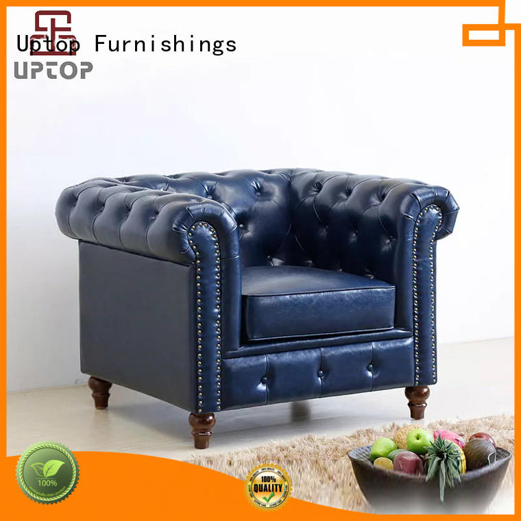 Classic Scroll Arm Button Tufted Chesterfield Style Beige Sofa for Living room ( SP-KS316 )