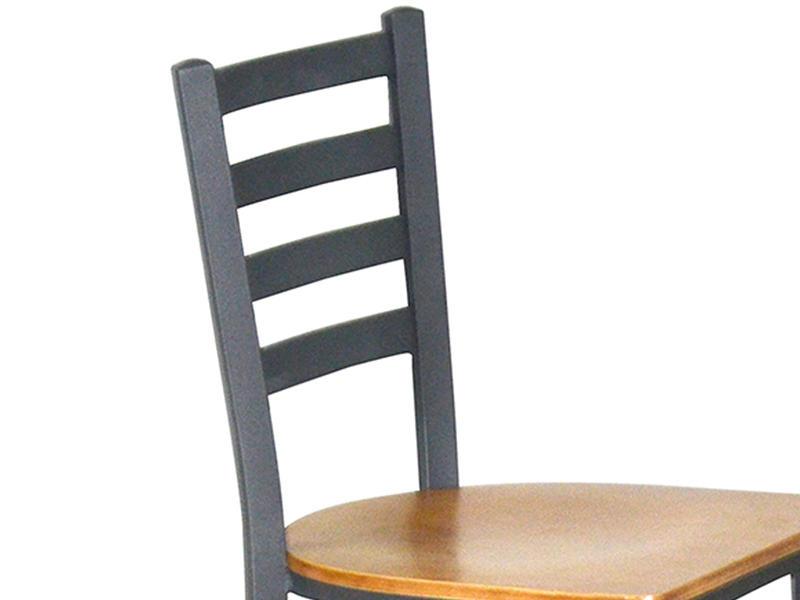 Uptop Furnishings-Cafe Metal Chair Uptop Black Ladder Back Metal Restaurant Chair-2