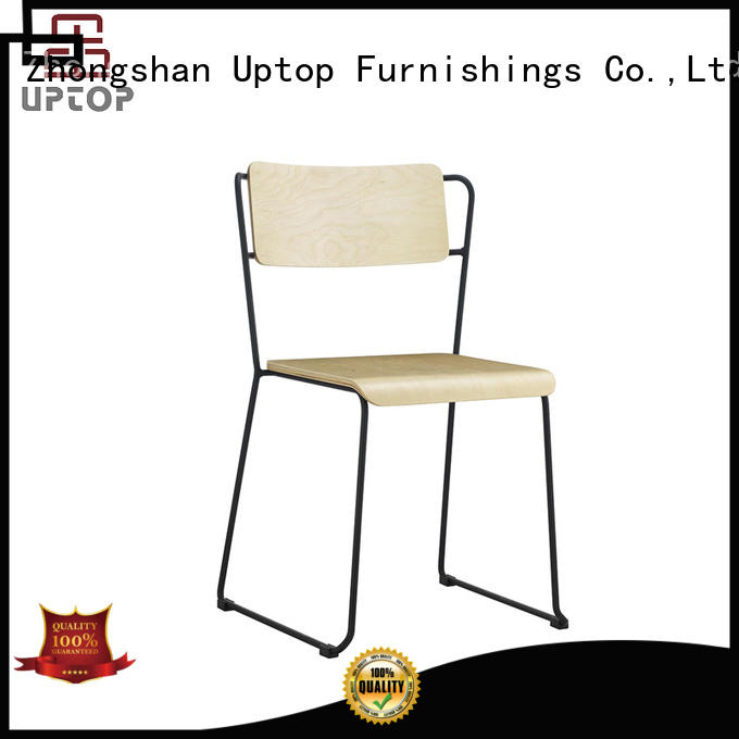 Hot allweather metal restaurant chairs red Uptop Furnishings Brand