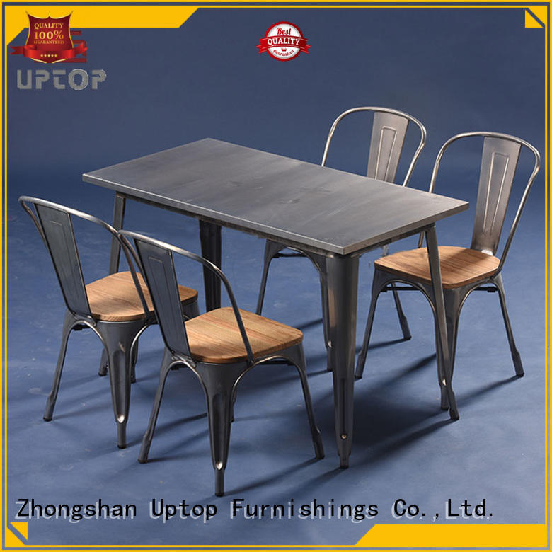 uptop 1950s industrial table and chair retro Uptop Furnishings company