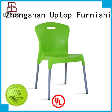 side stackable outdoor plastic chairs bulk production for cafe Uptop Furnishings