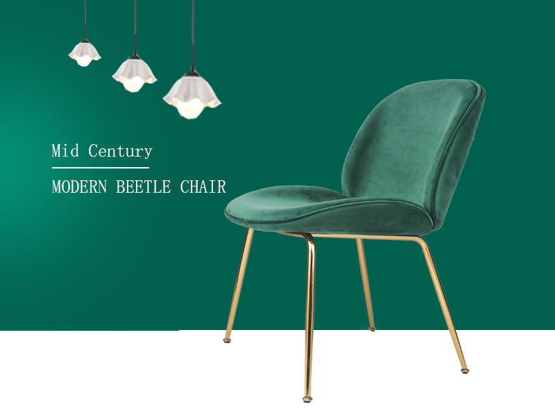 Modern Beetle Side Dining Chair Upholstered (SP-HC436)-2