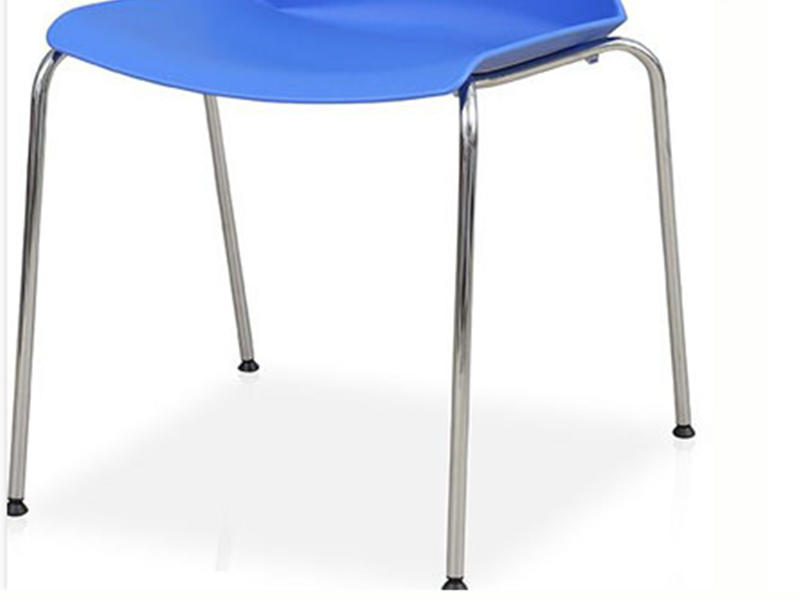 Uptop Furnishings-Stacking Pp Plastic Side Chair With Chrome Steel Frame SP-UC008-1