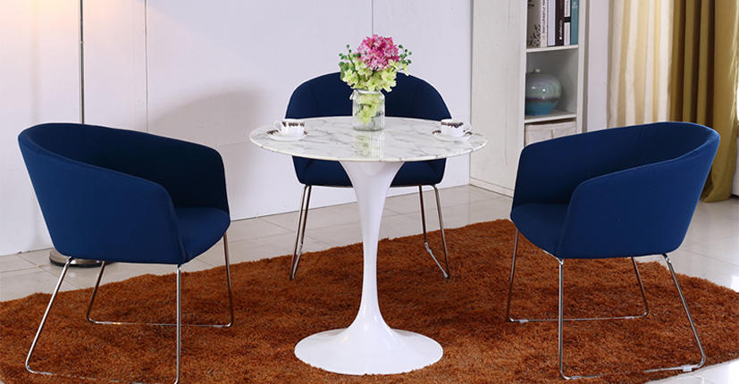 Uptop Furnishings-Upholstery Chair | Stainless Steel Frame Office Meeting Chair