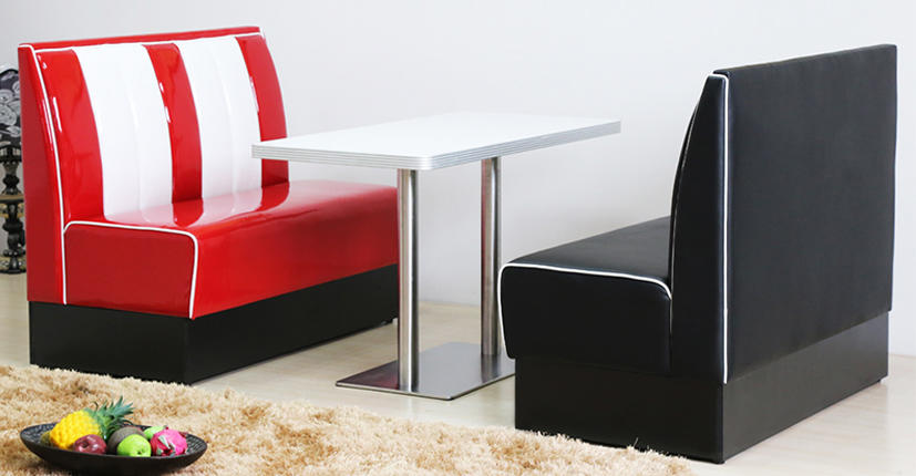 Uptop Furnishings-Find Banquette Booth American Style 1950s Furniture Restaurant Sofa Booth