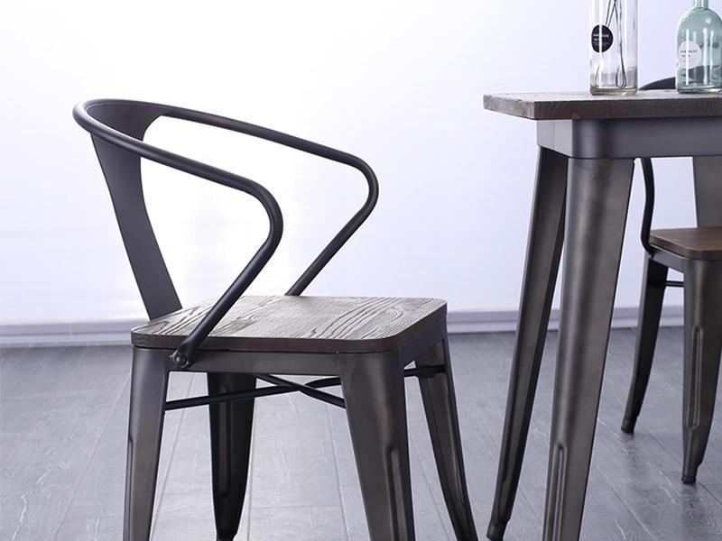 Uptop Furnishings-Outdoor Metal Chair, Rusty Indoor-outdoor Metal Dining Chair-1
