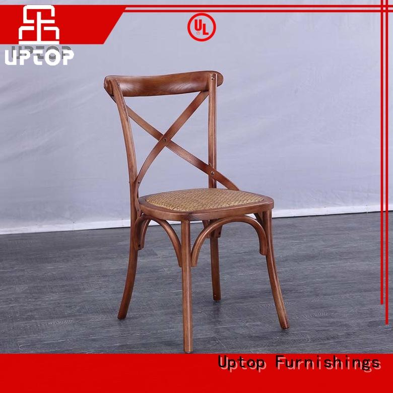 wood cafe chair cross for school Uptop Furnishings